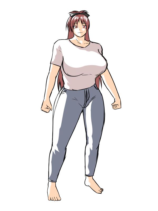 仁王立ち杏子